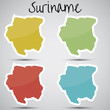 stickers in form of Suriname