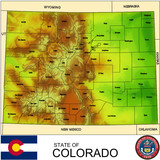 Colorado USA counties name location map background