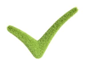 Green grass check mark