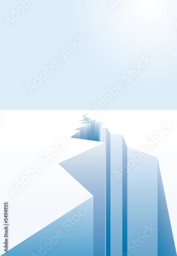 melting ice crack - 54114935