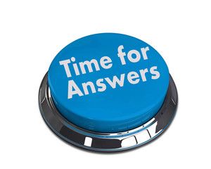 Time for answers 3d blue button