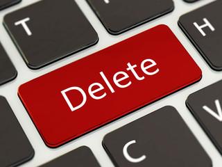 Delete button on laptop keyboard