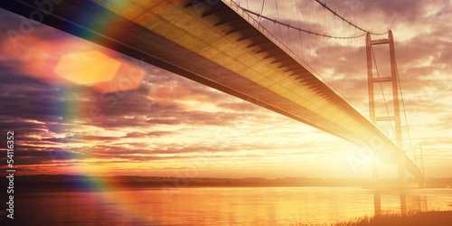 golden light bridge