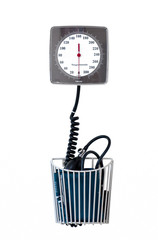 sphygmomanometer isolated over white background