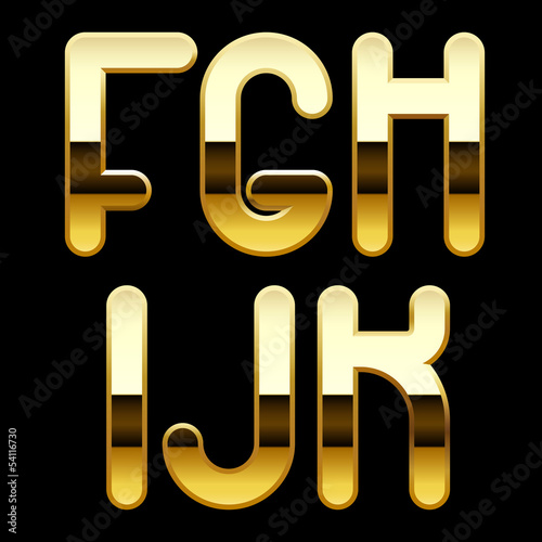 Gold alphabet letters