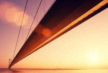 bridge golden hour