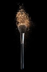 Make-up powder isolated on black background