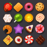 dessert icon set - 54118359