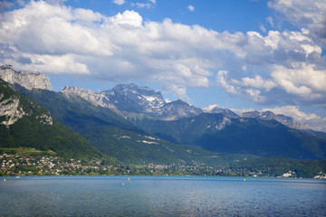 Lake Annecy in Alps