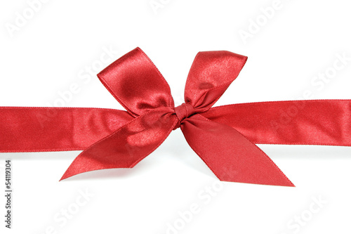Red ribbon against white background