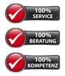 100% Service 100% Beratung 100% Kompetenz - Button Label