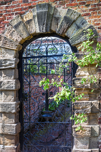 Old english garden gate