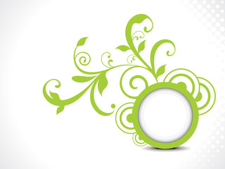 Printabstract green floral background vector illustration