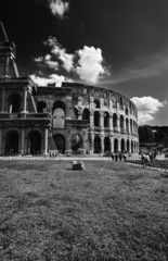 Italy, Lazio, Rome, view of the Roman Colosseum