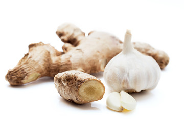 Ginger root with garlic