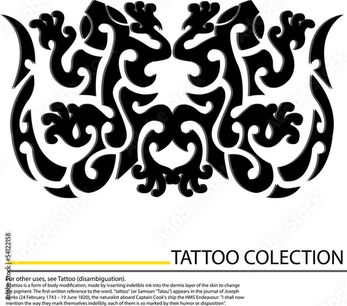gecko tattoo design,vector