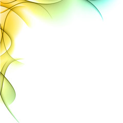 Abstract color wavy background.