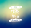 Carpe diem - blurred background