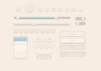 Cream Style User Interface Elements