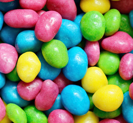 Bright colored candies