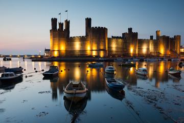 Caernarfon castle , North Wales