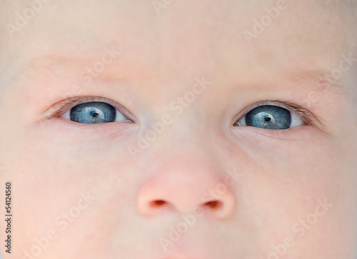 Newborn eyes and nose