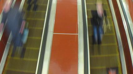Moscow metro timelapse, eskalator on station Komsomolskaya