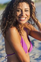 Beautiful Laughing Bikini Woman At Beach