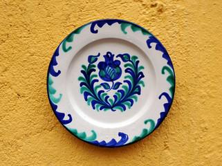 Plato de cerámica de Fajalauza, Granada