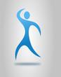 fitness logo blau