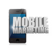 Smart phone with a mobile marketing sign