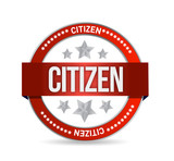 citizen Stamp seal illustration design