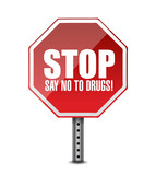 say no to drugs. stop sign illustration design poster