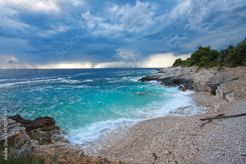 Croatia, Istria. Beautiful beach on Kamenjak