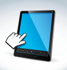 tablet pc ordinateur tactile curseur