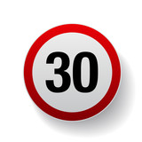 Speed sign - Number thirty button