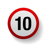 Speed sign - Number ten button