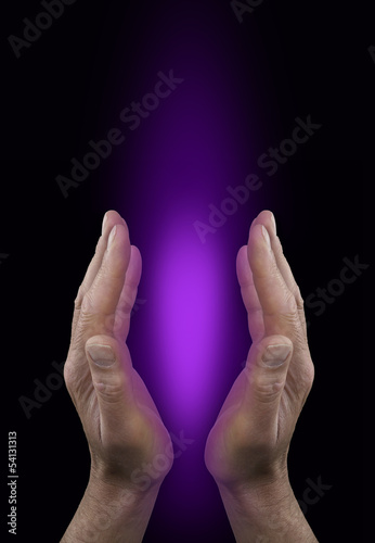 Healer working with the Purple Ray