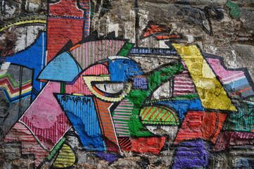 Graffiti Wall Background-Istanbul graffiti on wall
