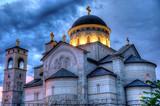 Ortodox church of the Resurrection of Christ in Podgorica Monten poster