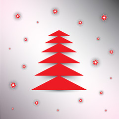 Christmas tree background,  vector eps10.