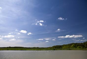 Lake and sky landscape