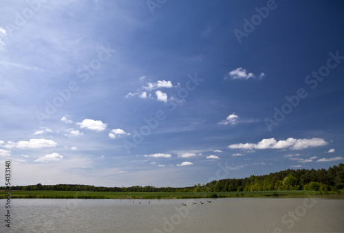 Lake and sky landscape