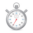 Silver stopwatch, web design icon