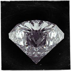 Diamond on black as vintage style