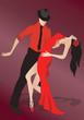 Постер, плакат: Latino Salsa Dancers