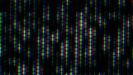 Close up of analog TV CRT kinescope noise. Full HD loop.