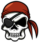 Vector illustration of cartoon Pirate skull