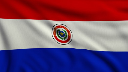 Flag of Paraguay looping