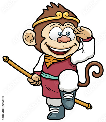 Vector illustration of monkey king